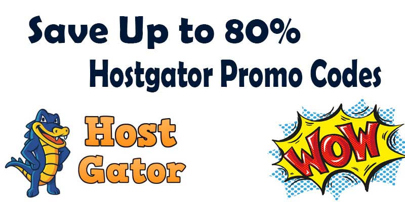 Save upto 80% with HostGator Promo Code